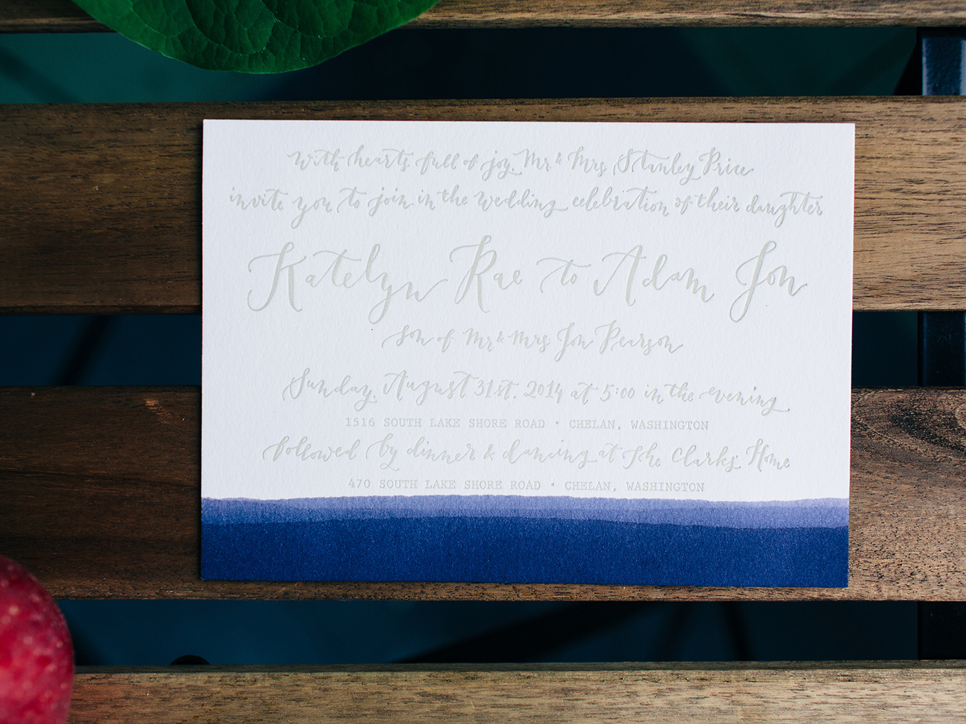 la Happy Lake Inspired Invitation