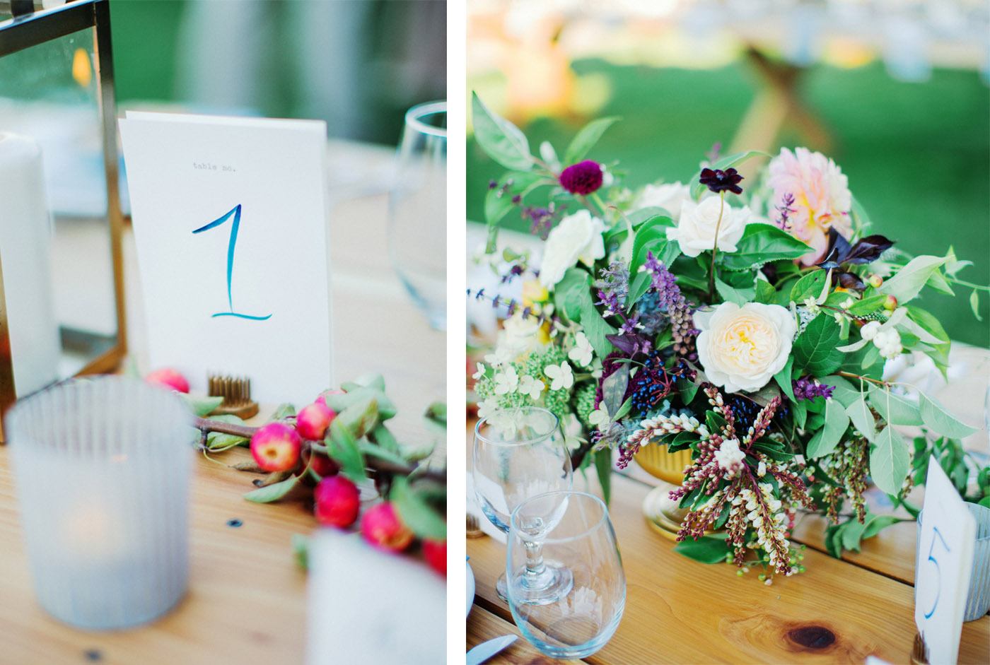 la Happy Lake Inspired Table Number