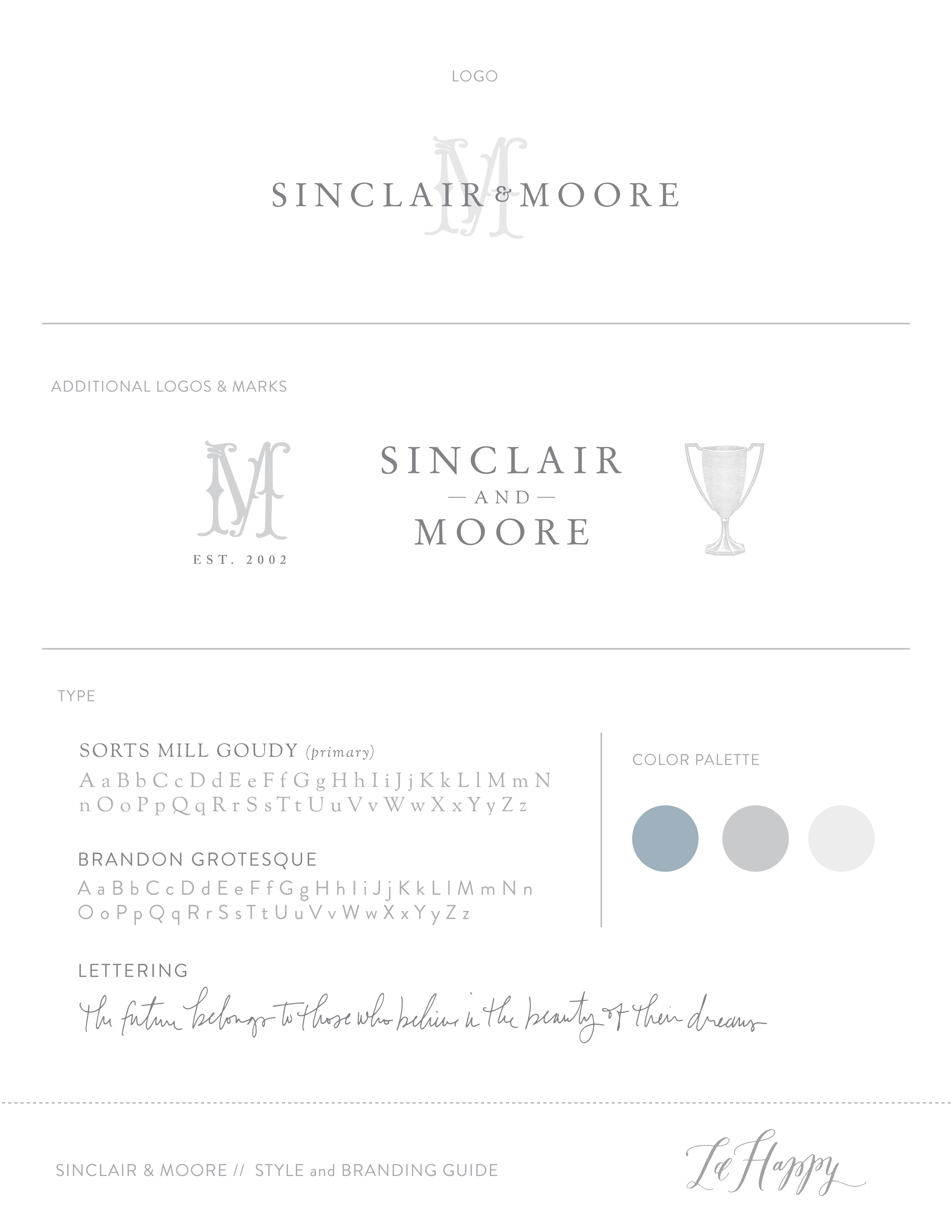 Sinclair & Moore Branding by la Happy • www.lahappy.com