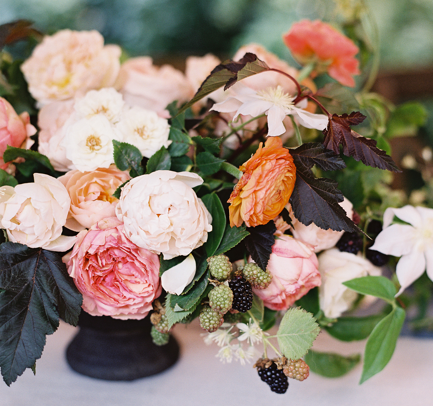 la Happy Rustic Corson Building Wedding Flowers