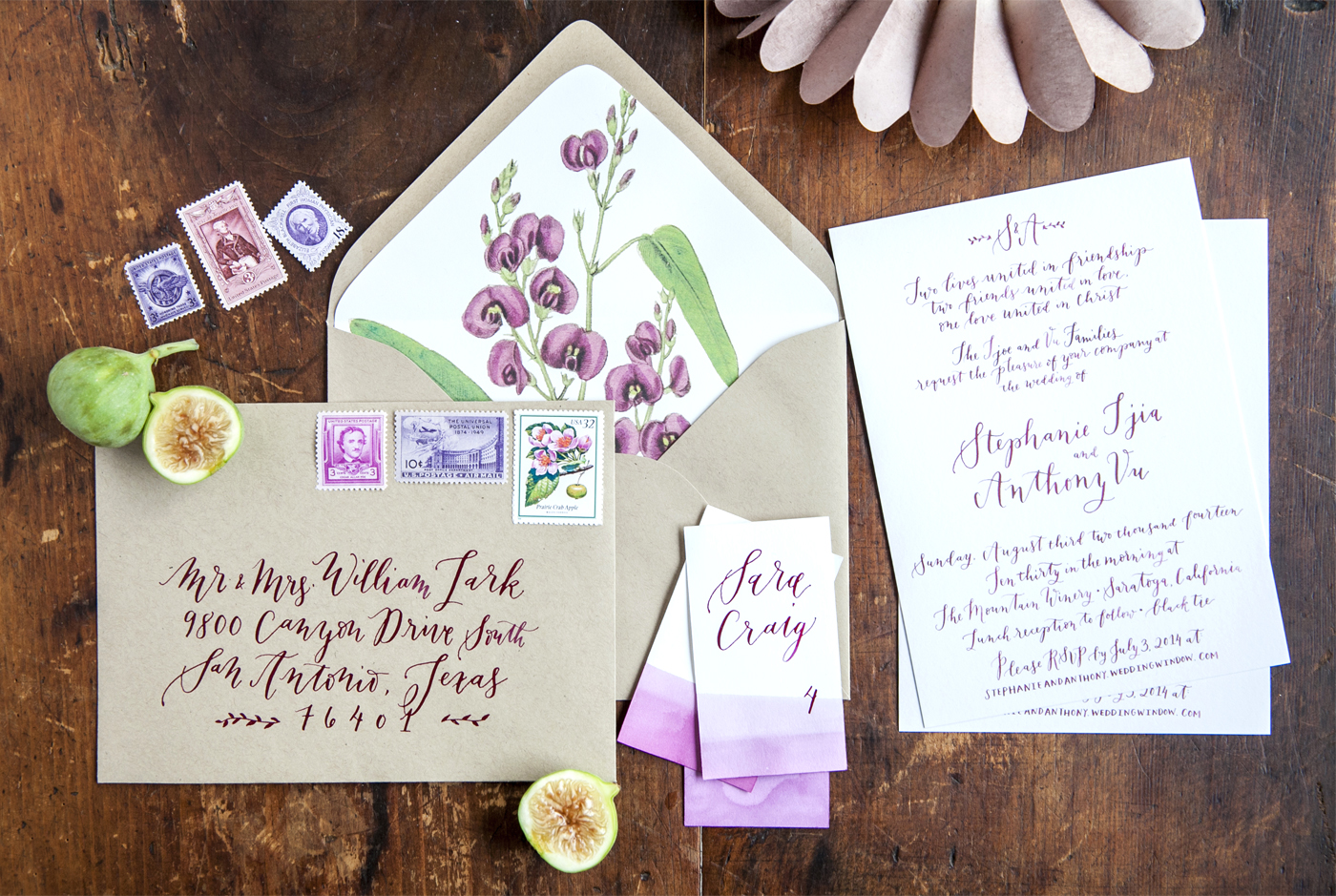 la Happy Calligraphy Invitation Set