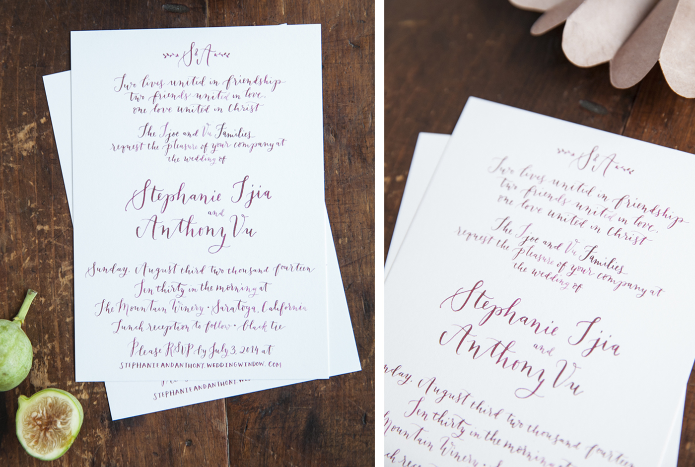 la Happy Calligraphy Invitation