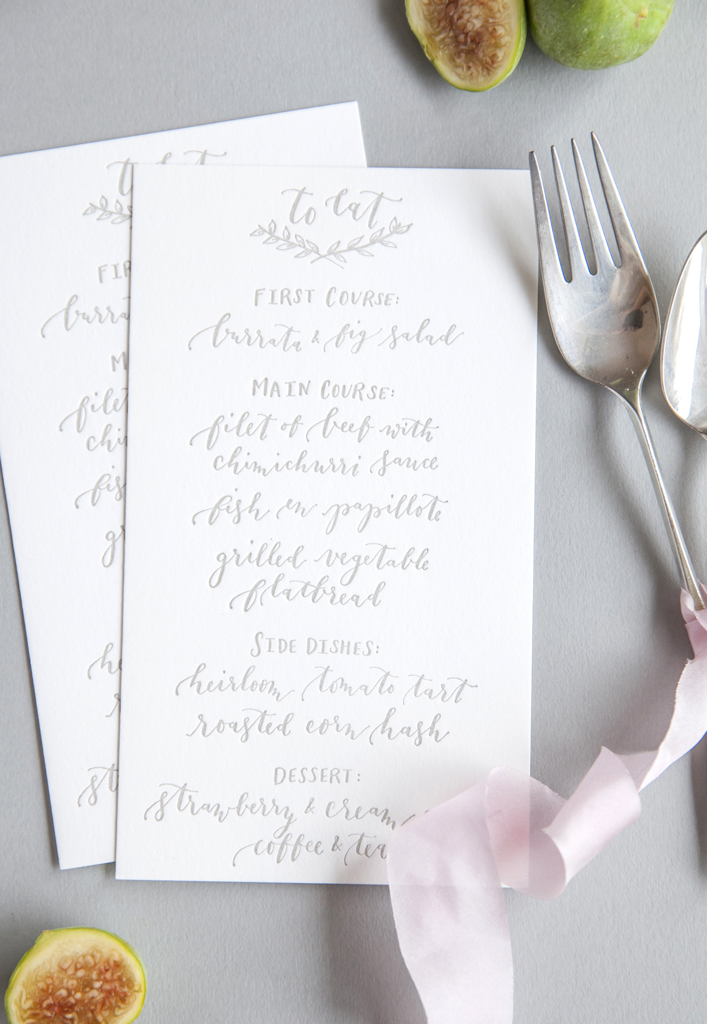 la Happy Calligraphy Menu