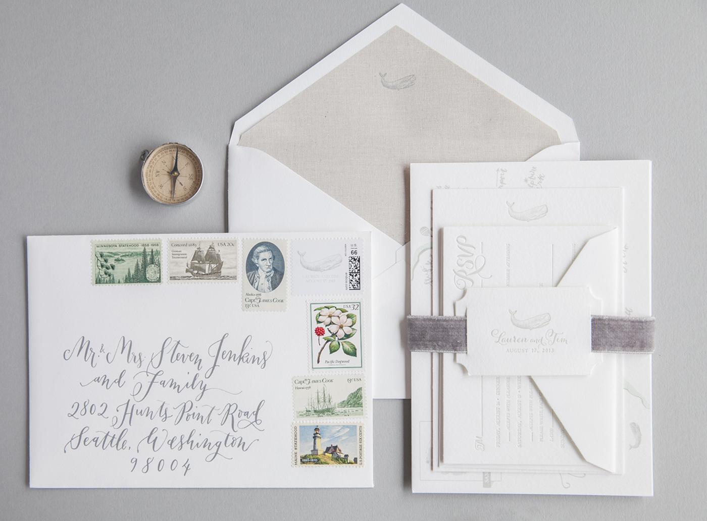 la Happy Letterpress Invitation Set