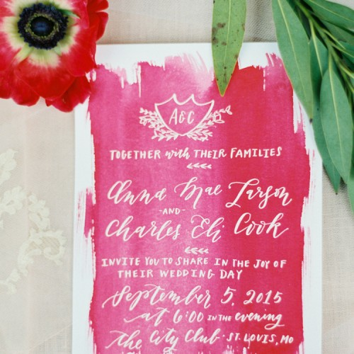 la Happy calligraphy and watercolor invitation set_featured