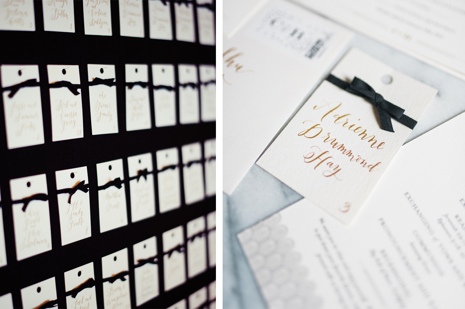 la Happy Calligraphy Escort Cards