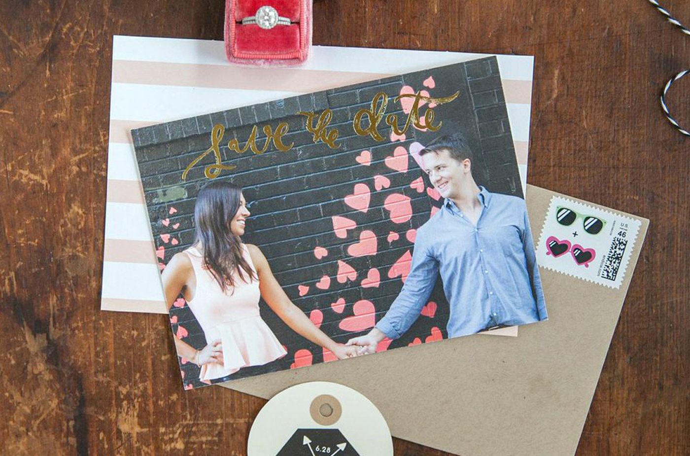 la Happy Gold Foil Save the Date