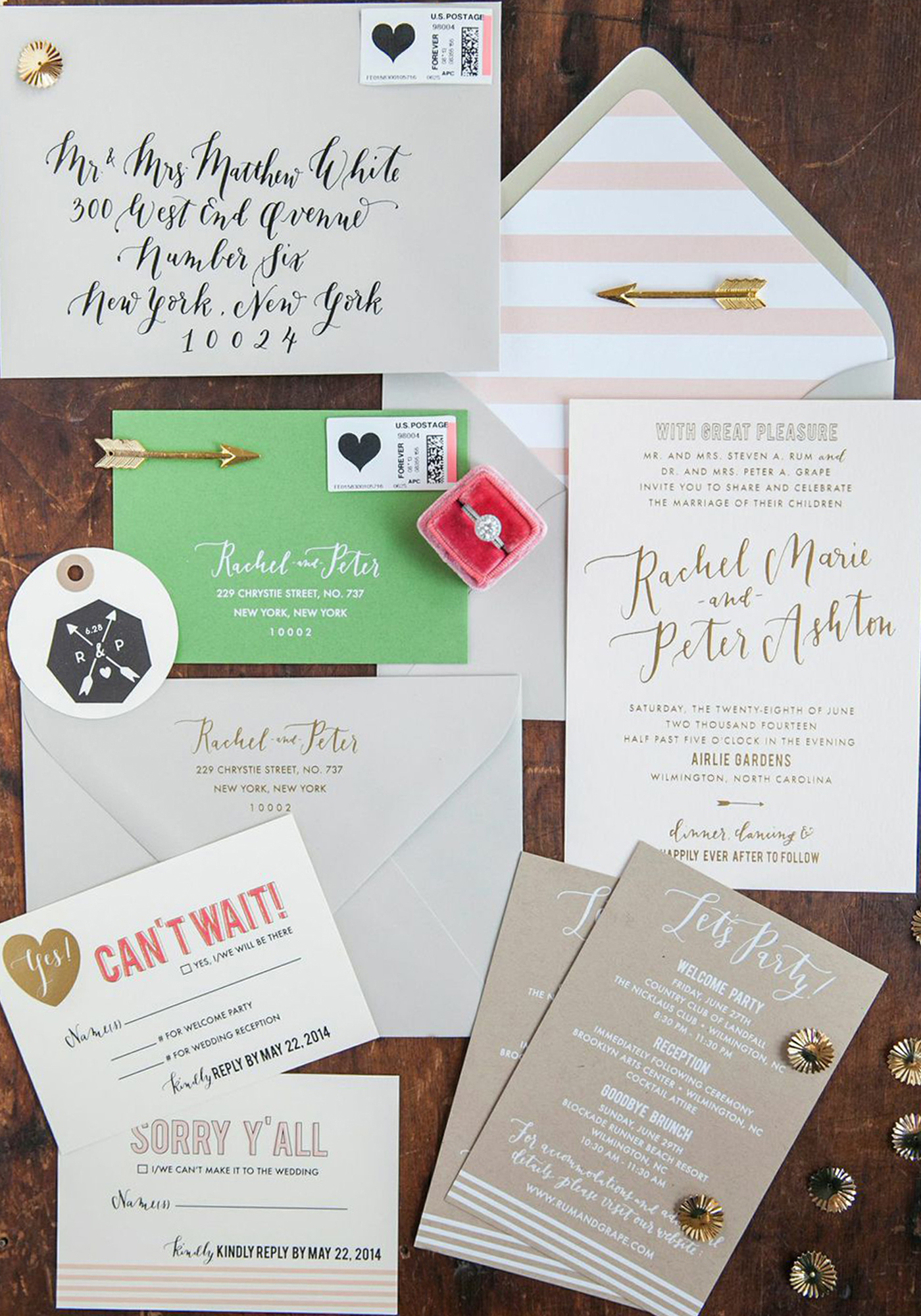 la Happy Invitation Set