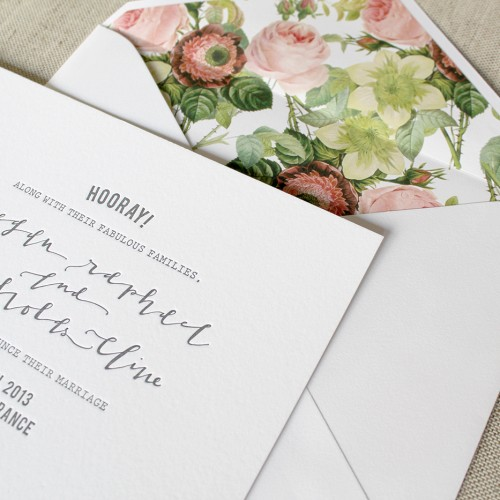 la Happy Modern Calligraphy Invitation Suite