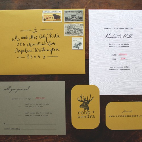 la Happy Rustic Invitation Set
