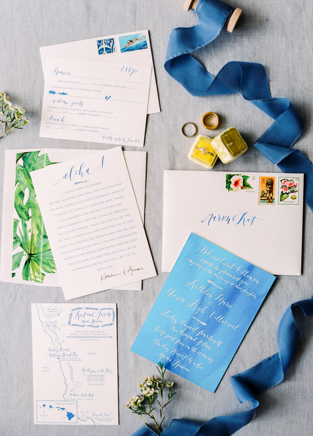 la Happy Calligraphy - Hawaiian Wedding