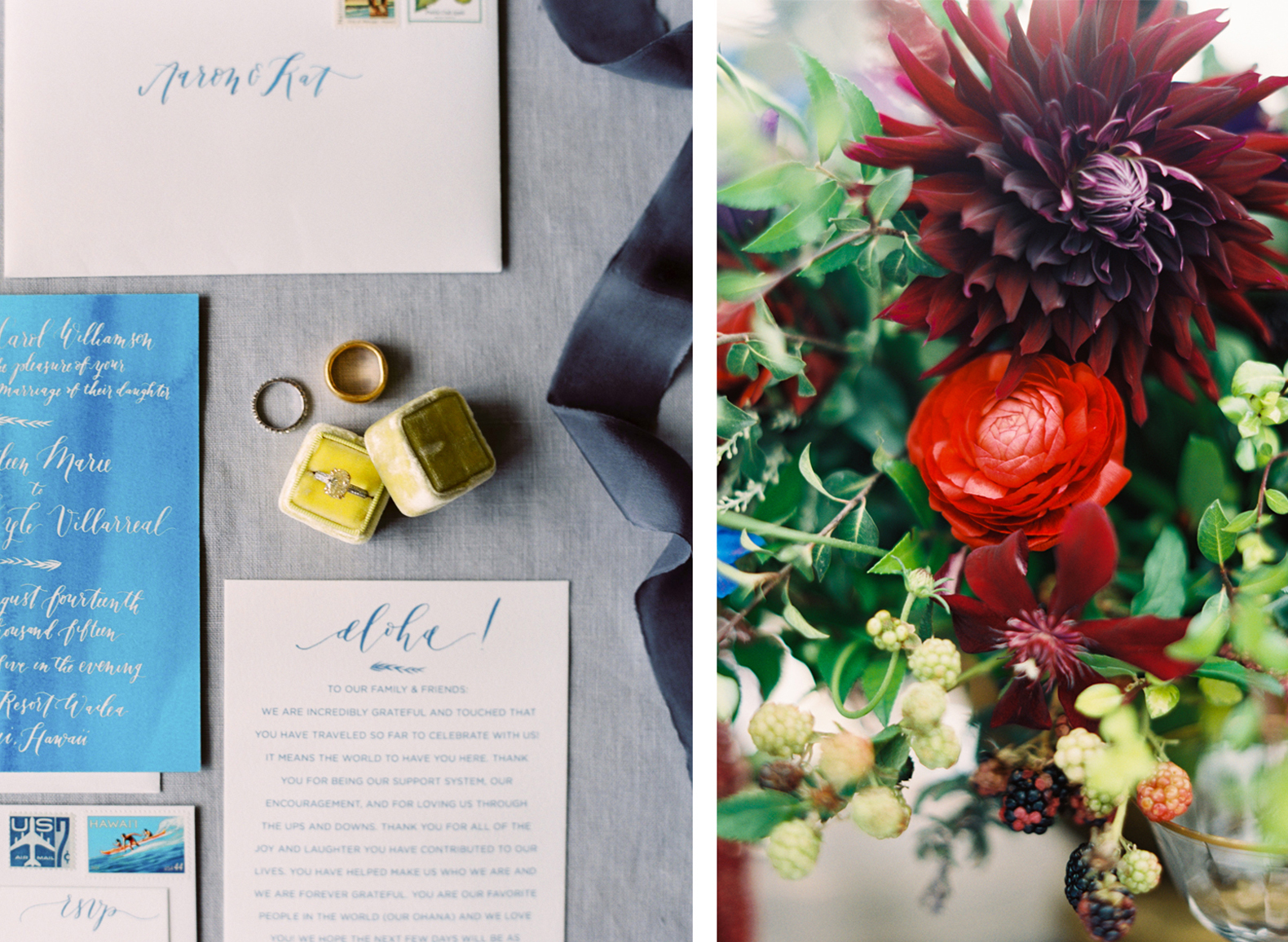 la Happy Calligraphy - Hawaiian Wedding  watercolor