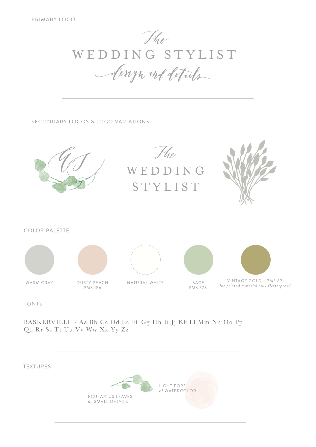 wedding stylist branding by la happy