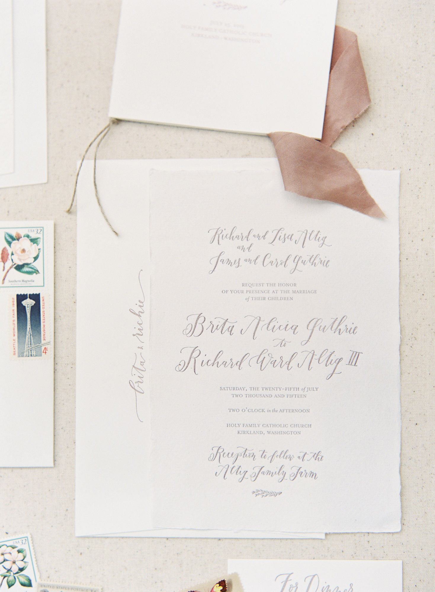 wedding stationery Archives - la Happy Calligraphy & Custom Paper Goods