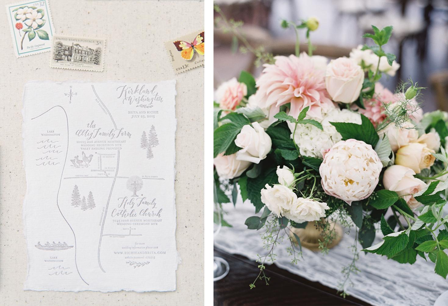 la Happy Design Calligraphy & Letterpress Printed Map