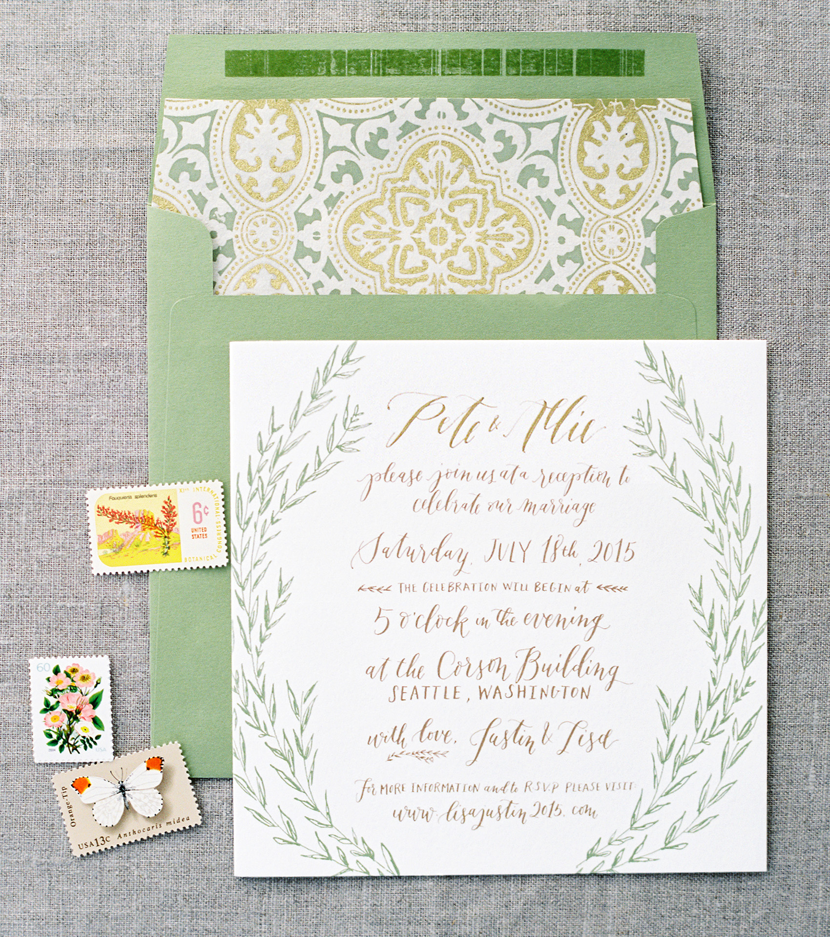 la Happy Design & Calligraphy Invitation Set
