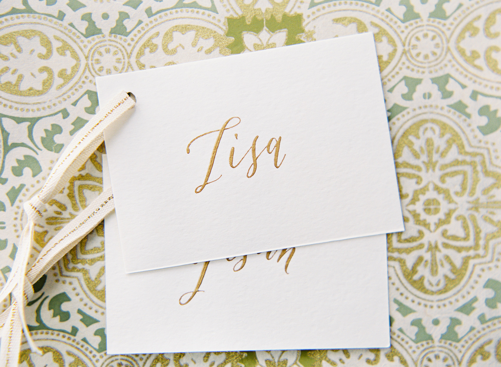 la Happy Calligraphy & design Place Cards