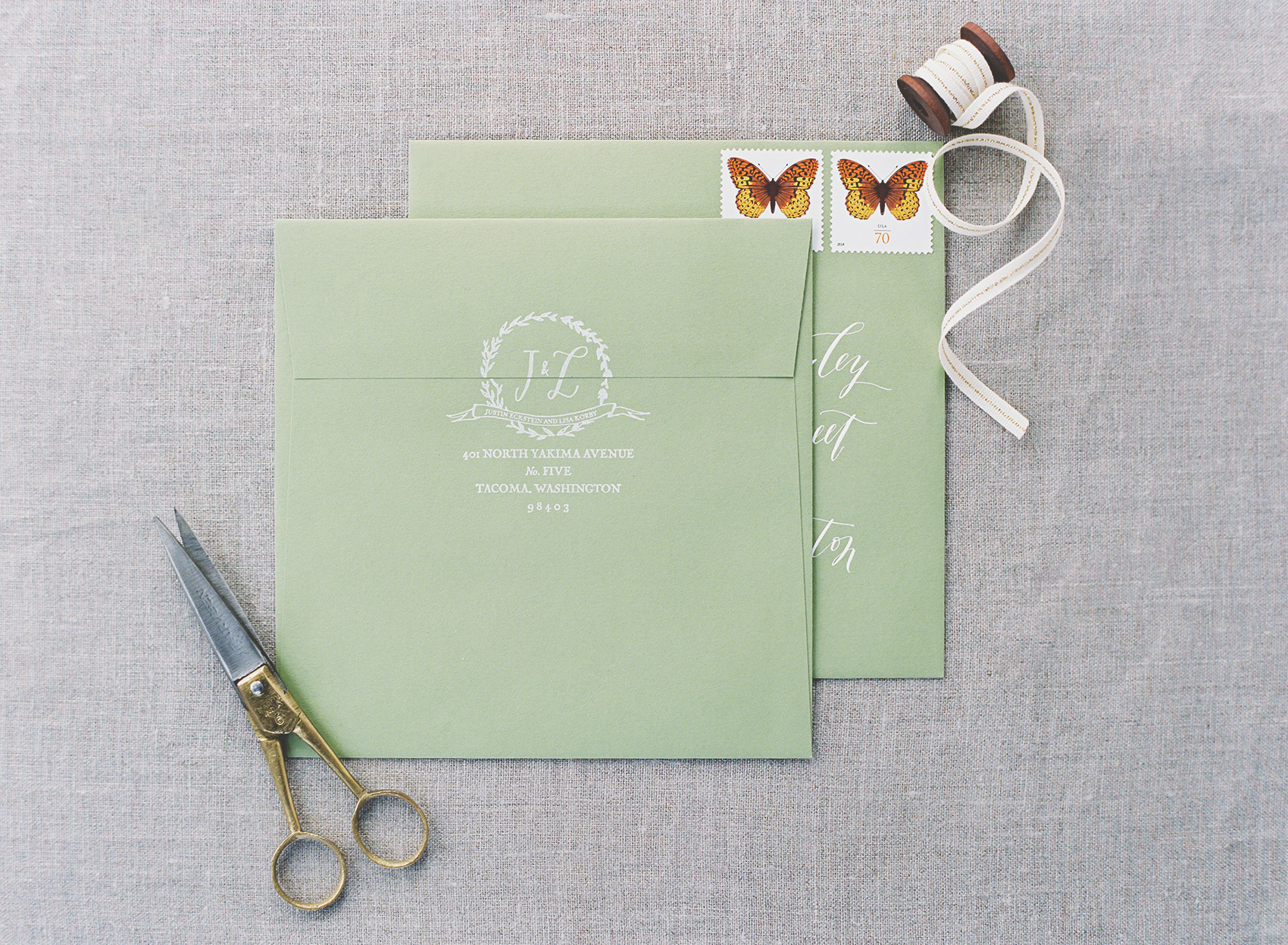 la Happy Calligraphy & Design Envelopes