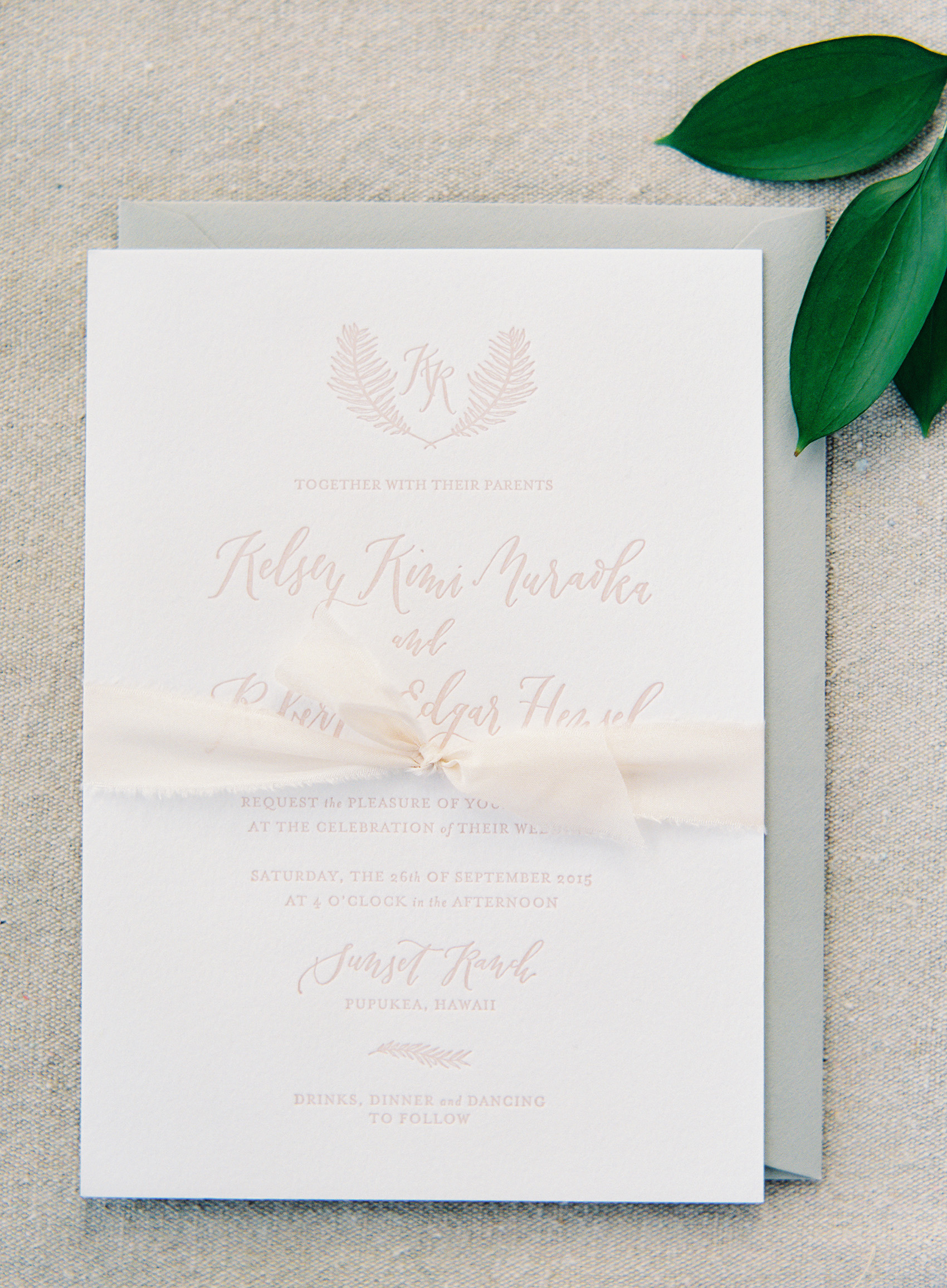 la Happy Calligraphy and Design letterpress invitation