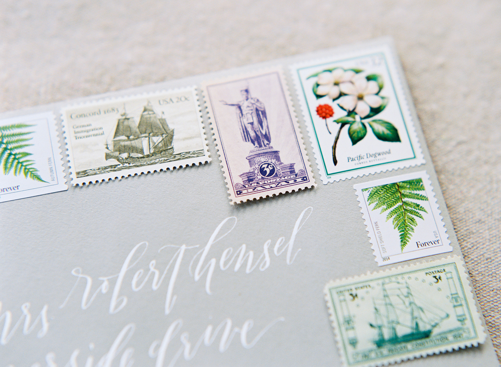 la Happy Design custom vintage postage