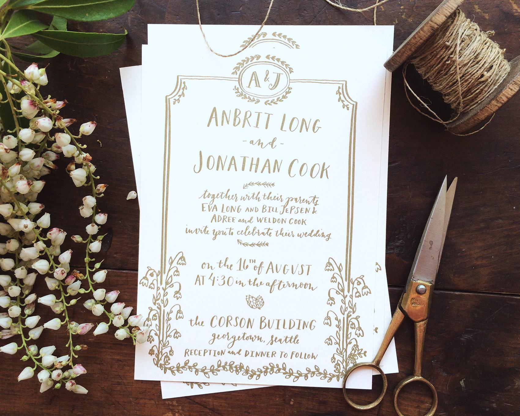 la Happy Design & Calligraphy illustrated invitation