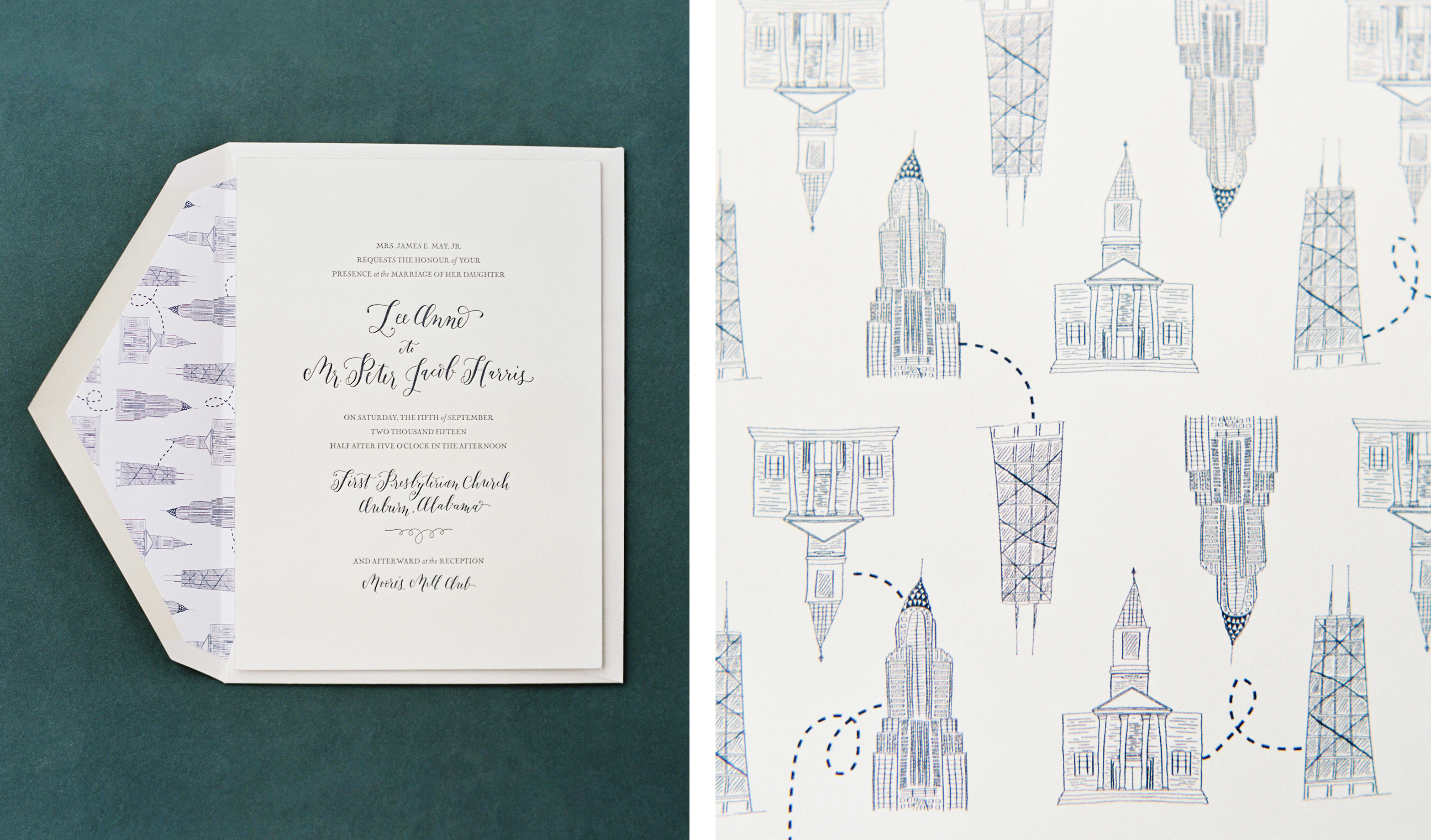 la Happy design letterpress invitation