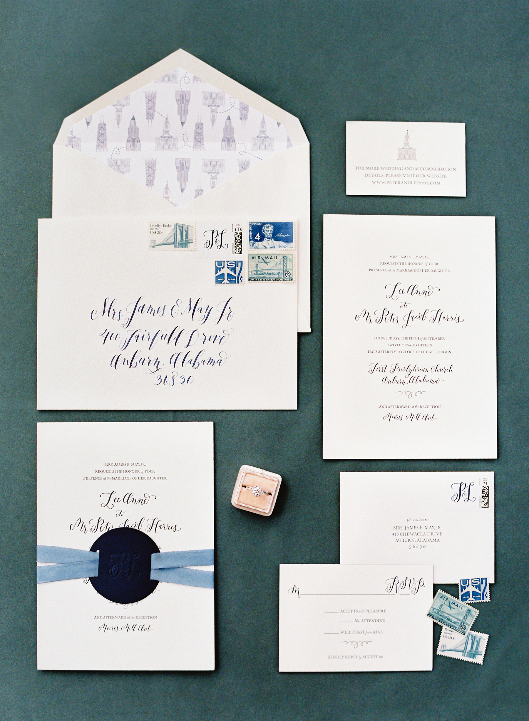 la Happy design letterpress invitation set