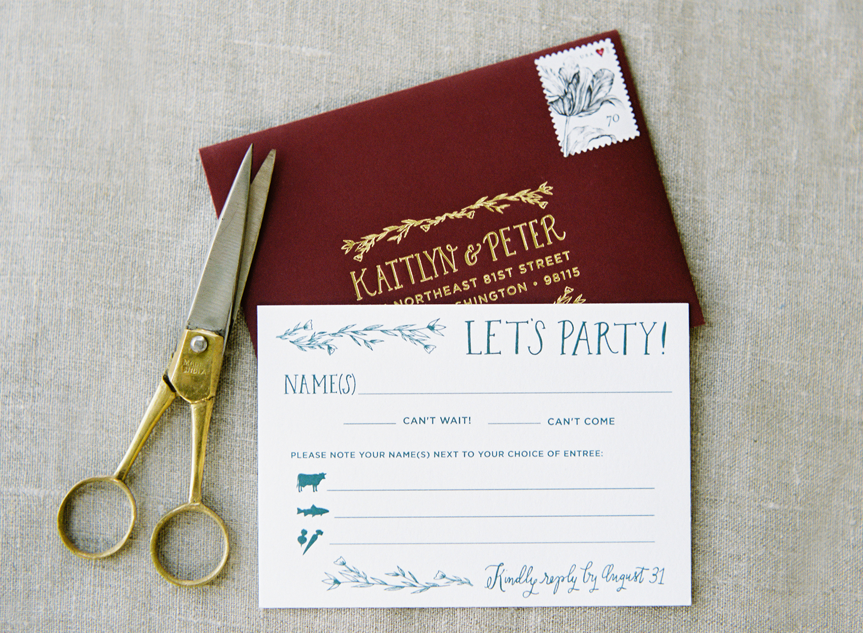 la Happy Design Illustrated Wedding