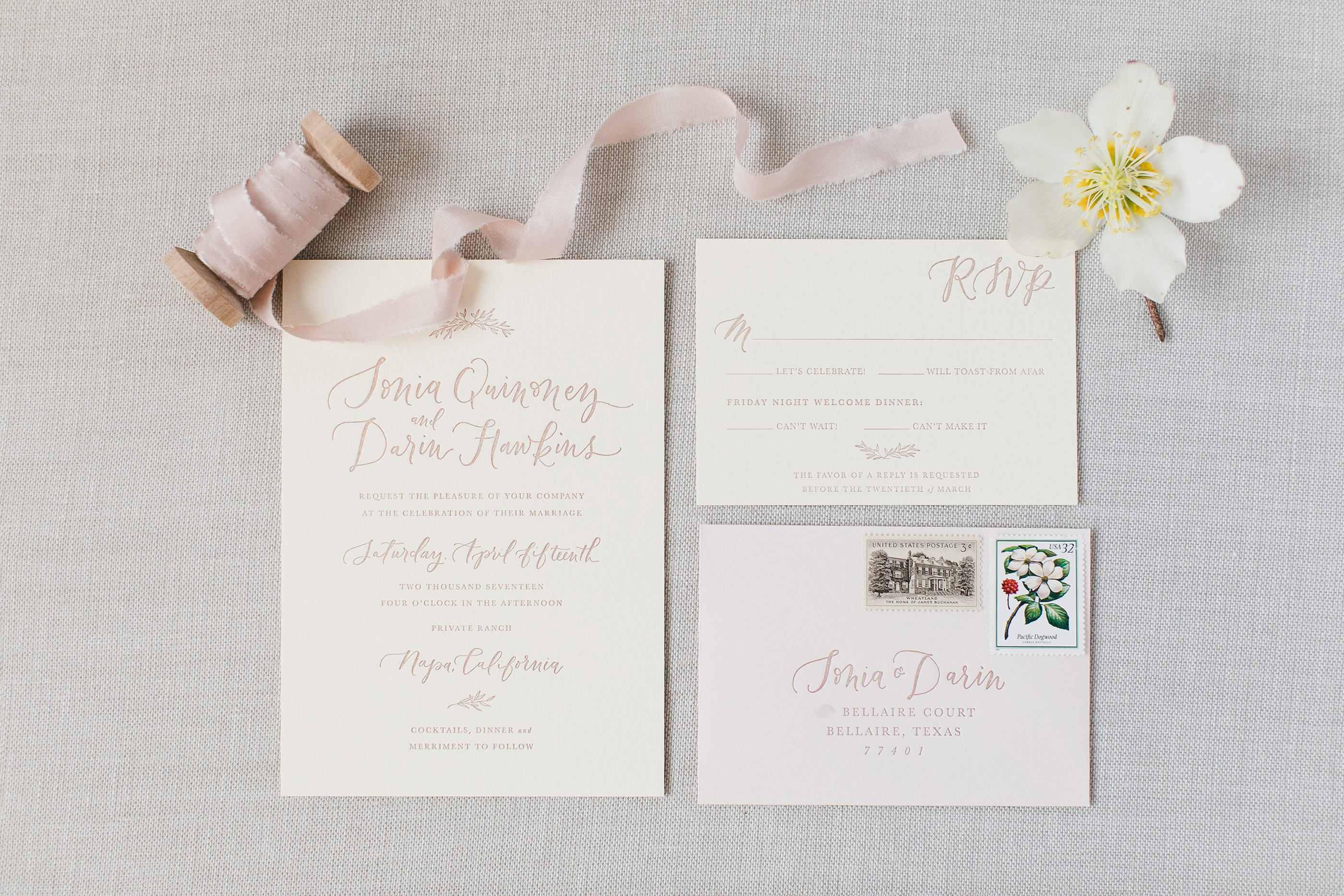 Sonia and Darin\'s Napa Valley Wedding - la Happy Calligraphy ...